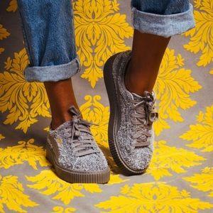 PUMA Fluffy Suede Platform Elemental Sneaker